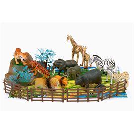 Cubo animales salvajes 22 piezas