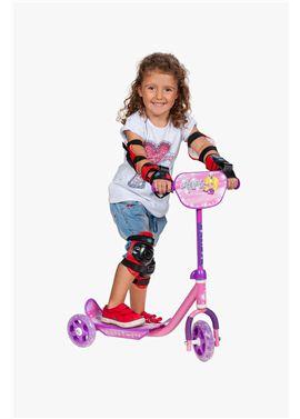 Patinete 3 ruedas rosa - 99820012