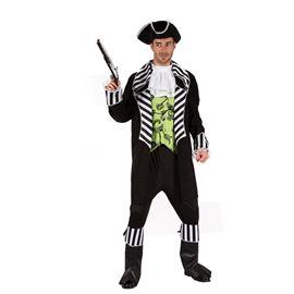 Disfraz pirata chaleco verde hombre (talla 52)