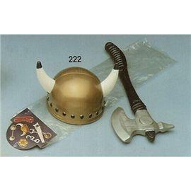 Casco vikingo infantil con hacha - 57800222