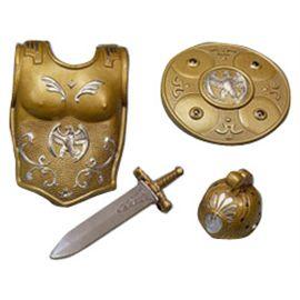 Coraza, escudo, casco y espada romano - 57800316