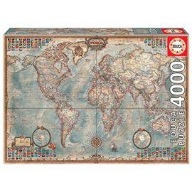 Puzzle 4000 el mundo mapa politico - 04014827