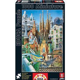 Puzzle 1000 collage gaudi barcelona miniatura - 04011874