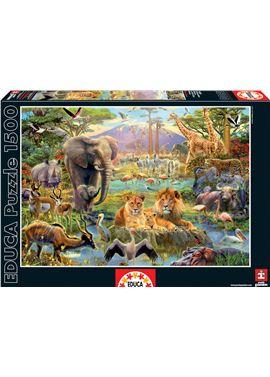 Puzzle 1500 el abrevadero africano - 04016303
