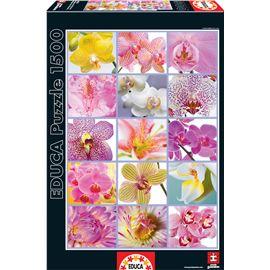 Puzzle 1500 collage de flores - 04016302