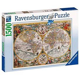 Puzzle 1500 mapamundi historico - 26916381