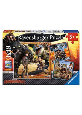 Puzzle 3 x 48 dragons - 26909258