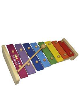 Xilofono de madera 8 notas con 2 baquetas - 31007048