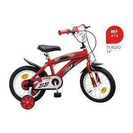 "Bicicleta tx 14"" roja - 34300476"