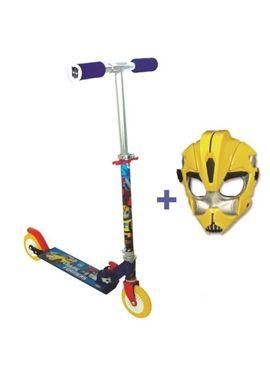 Patinete 2 ruedas transformers + mascara - 50520884