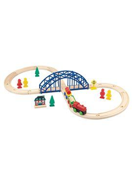 Circuito tren de madera 35 pcs - 95613309