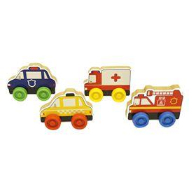 Puzzle 4 vehículos con ruedas (precio unidad) - 95606175