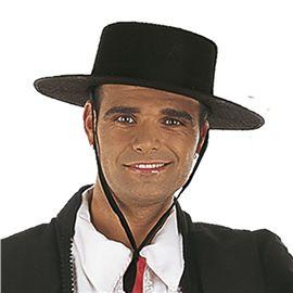 Cm087 sombrero cordobes fieltro negro t-unica - 57150870