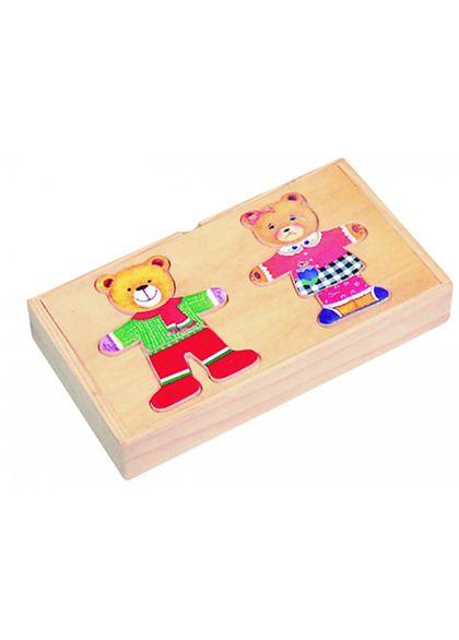 Pareja ositos puzzle de madera - 87004005