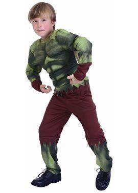 Disfraz forzudo verde - 92781335