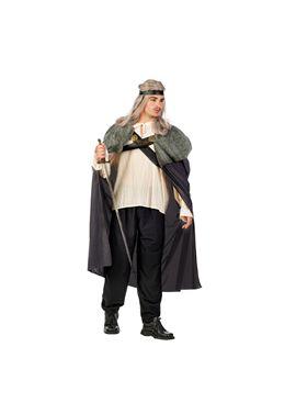 Capa guerrero medieval gris talla m nc801 - 57118010