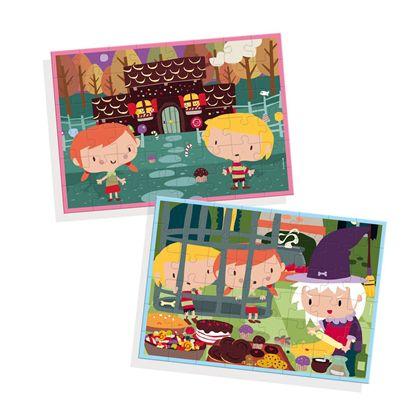 Puzzle contes 2 x 48 la casita de chocolate - 09569963(1)