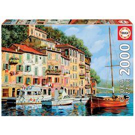 Puzzle 2000 la barca rossa alla calata - 04016776
