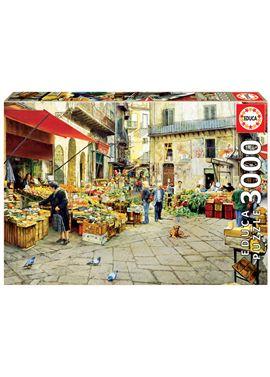 Puzzle 3000 la vucciria market, palermo - 04016780