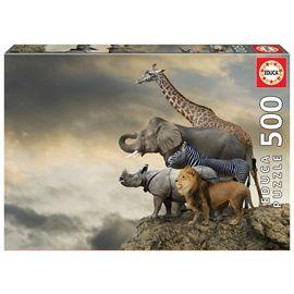 Puzzle 500 animales al borde del abismo - 04016737