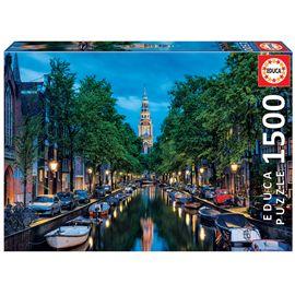 Puzzle 1500 oscurece en el canal, ámsterdam - 04016767