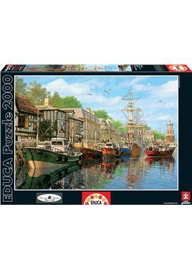 Puzzle 2000 barcas en el muelle - 04016313