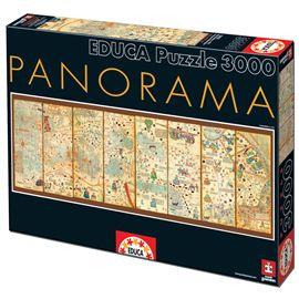 Puzzle 3000 mapamundi de 1375, cresques abraham - 04016355