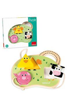 Goula - puzzle 3 animales granja - 09553452