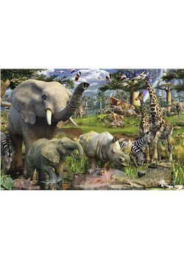 Puzzle 3000 pzs animales en el estanque - 26917070