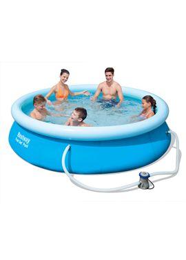 Set de piscina redonda aro inflable ø305x76 cm.