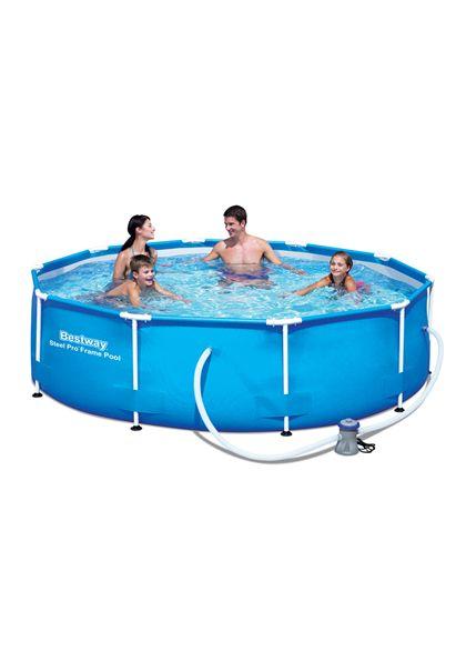 Set de piscina tubular redonda ø305x76 cm. - 86756408