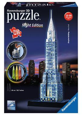 Puzzle 3d chrisler building-nigth edition - 26912595