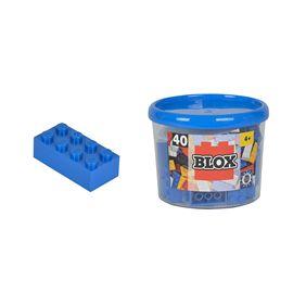 Blox bote con 40 bloques azules - 33318881