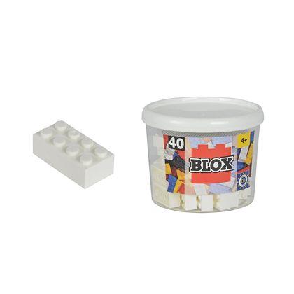 Blox bote con 40 bloque blancos - 33318890