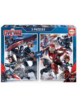 Puzzle 2 x500 capitan america - 04016702