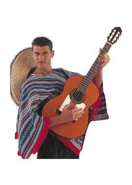Cm279 poncho mexicano t-unica - 57152790