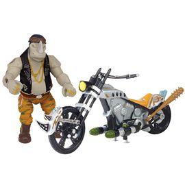 Tortuga ninja movie 2 moto + figura rocksteady - 23489303