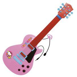 Guitarra electronica con micro hello kitty