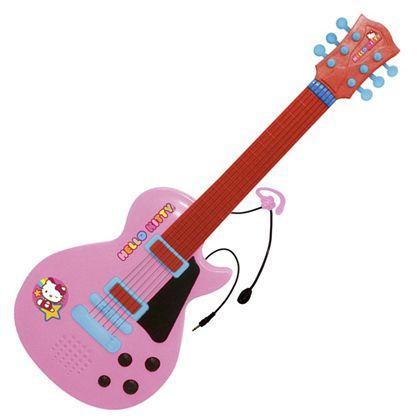 Guitarra electronica con micro hello kitty - 31001505
