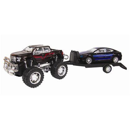 4x4 con remolque y vehículo 60cm fricción - 89815093(1)