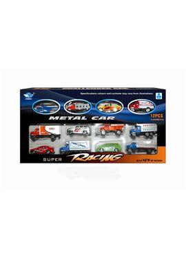 Caja 12 vehiculos metal - 87867683