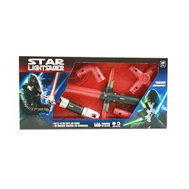 Espada espacial doble convertible con luz y sonido - 87860484