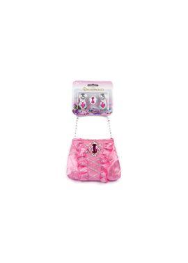 Bolsito princesa rosa con joyas - 90570593