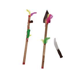 Hacha, pipa y cuchillo indio - 55201512