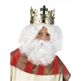 Peluca y barba blanco cm052 - 57155201