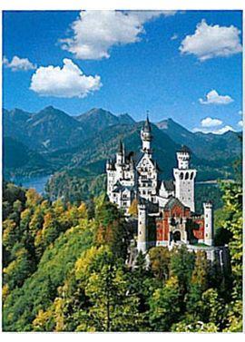 Puzzle 1000 pz neuschwanstein en otoño - 26915755