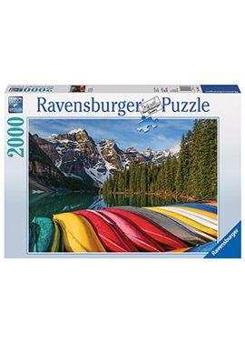 Puzzle 2000 pz montaña y canoas - 26916647