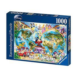 Puz.1000 mapamundi disney - 26915785
