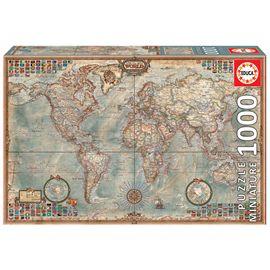Puzzle 1000 el mundo mapa politico miniatura - 04016764