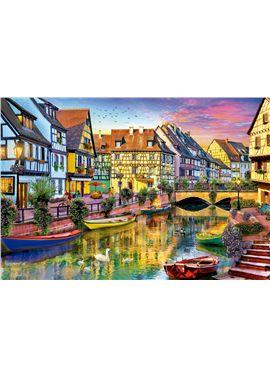 Puzzle 4000 canal de colmar francia - 04017134
